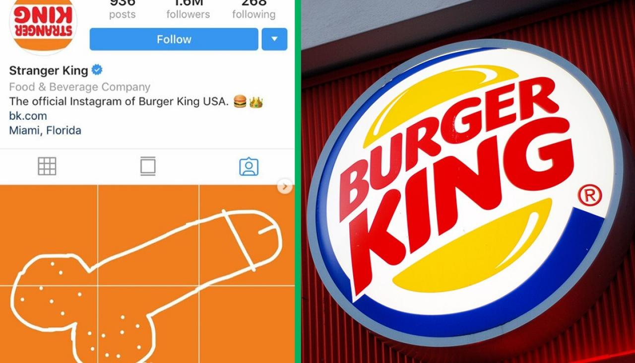 Burger King's Insta is covered in giant dicks thanks to an artist