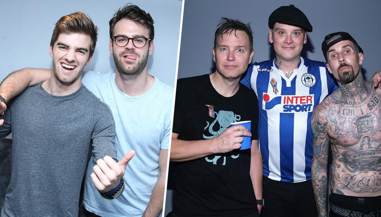 The Chainsmokers just wrote a song with Blink 182
